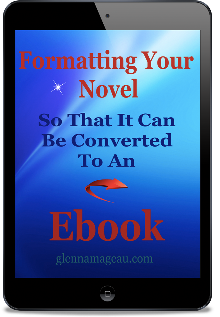 formatting your novel to convert to an ebook