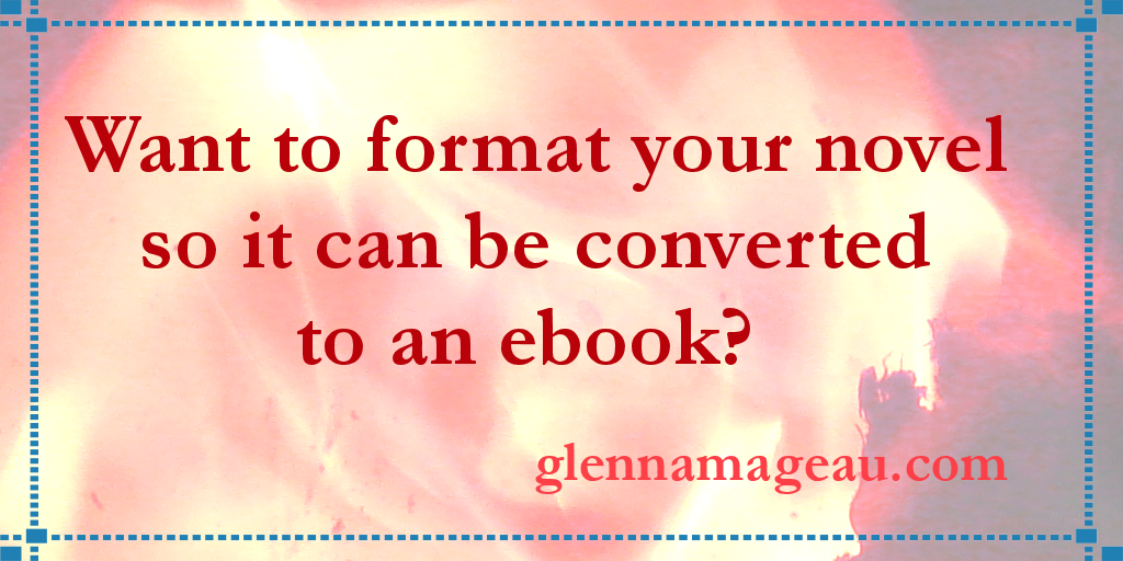 want to format your novel - v